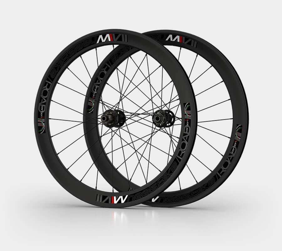 ruote da strada road - carbonio disco - wheelsbike