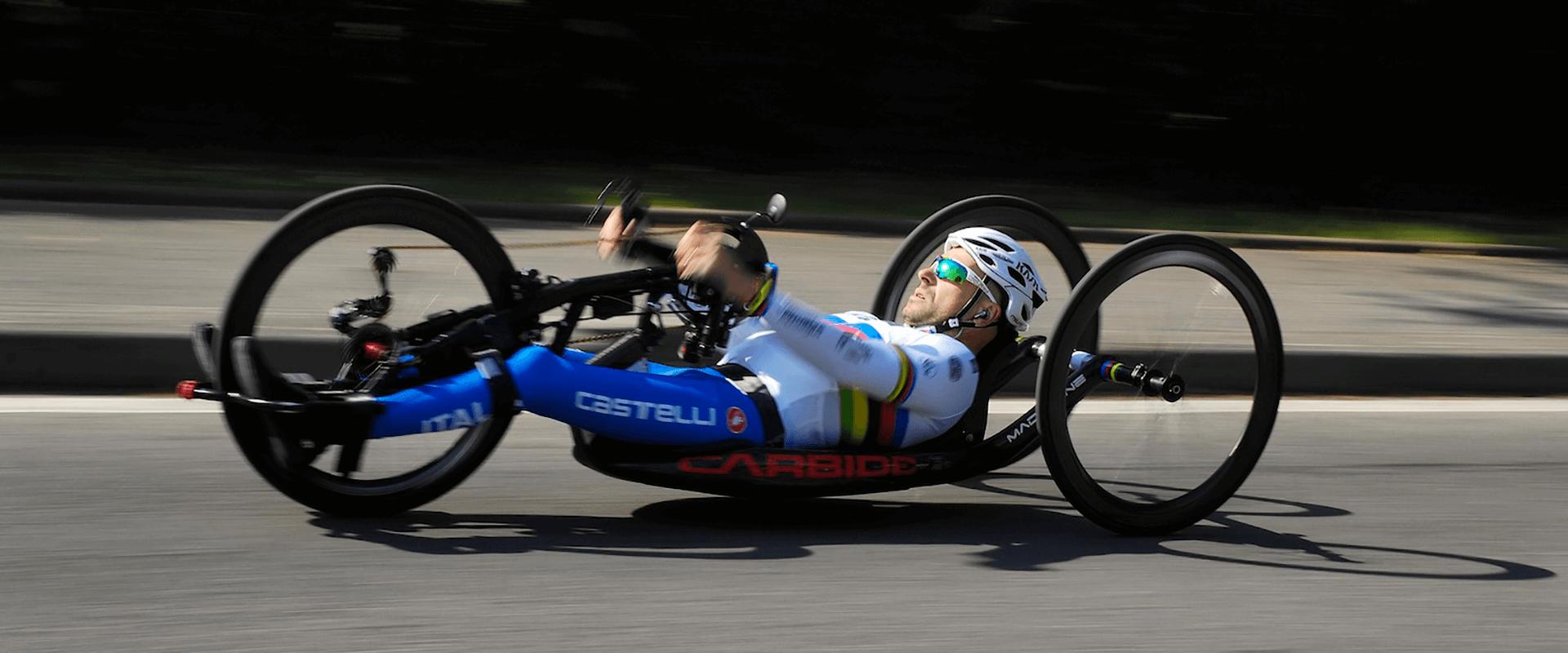 ruote handbike in carbonio competizione