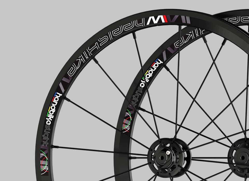 set ruote alluminio 20 handbike wheelsbike wheelchair cerchio