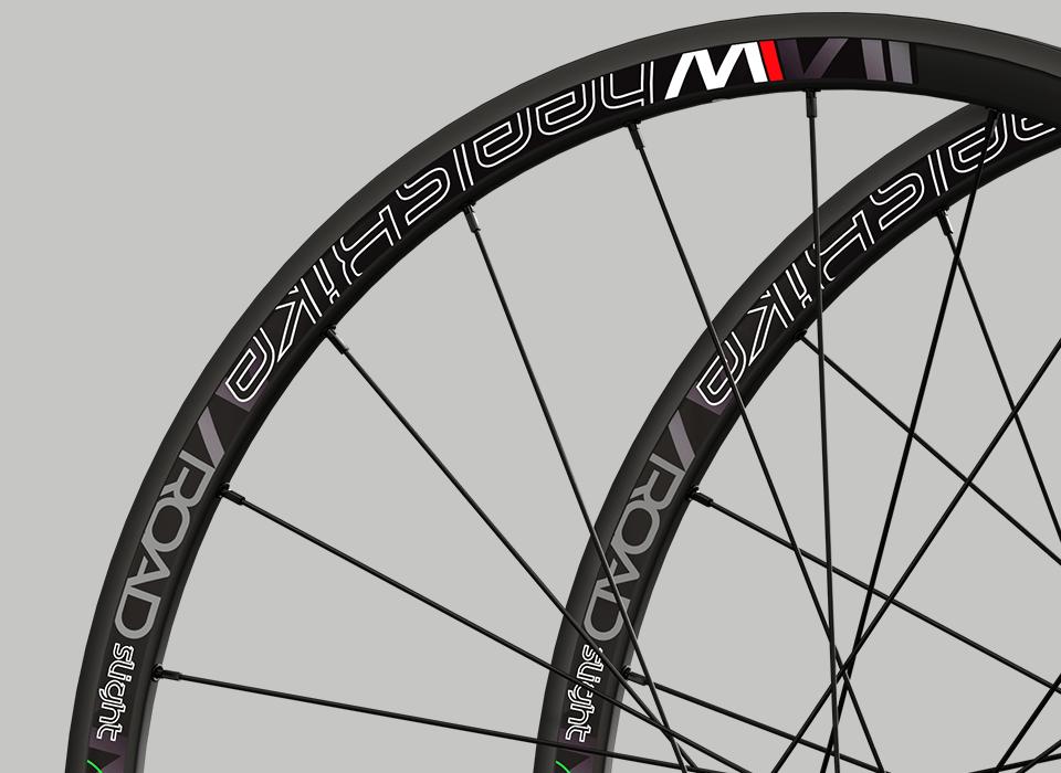 set ruote alluminio da strada disk cerchio