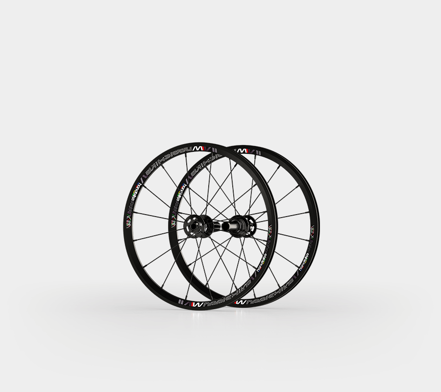 set ruote alluminio handbike 20 wheelsbike slight nero