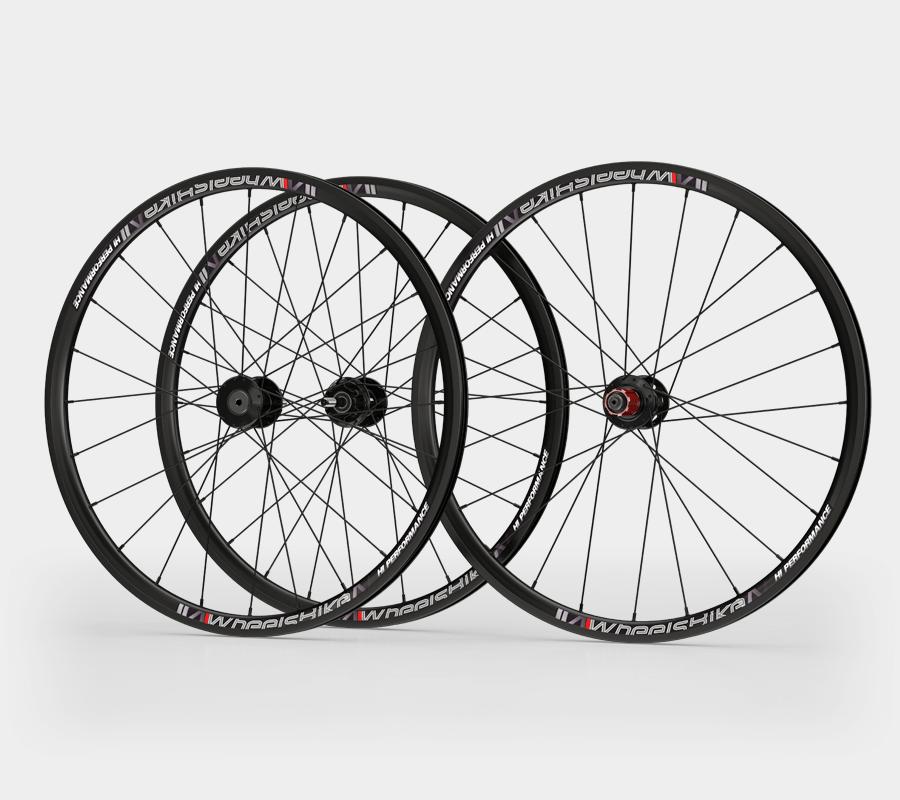 set ruote alluminio handbike wheelsbike hi performance disk nero