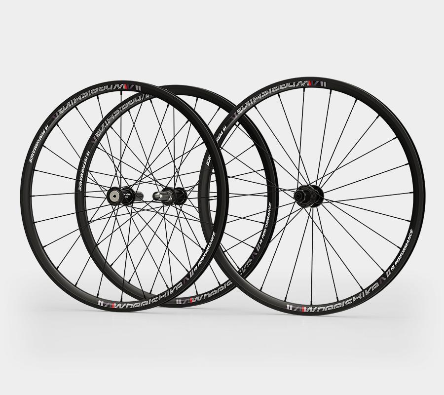 set ruote alluminio handbike wheelsbike hi performance nero