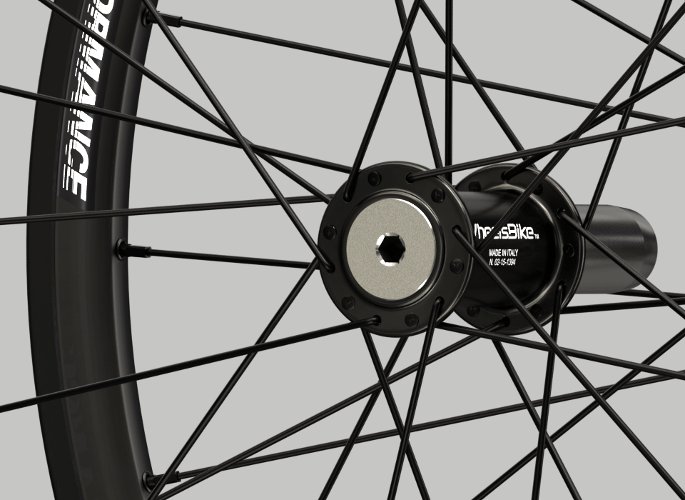 set ruote alluminio handbike wheelsbike hi performance nero mozzo