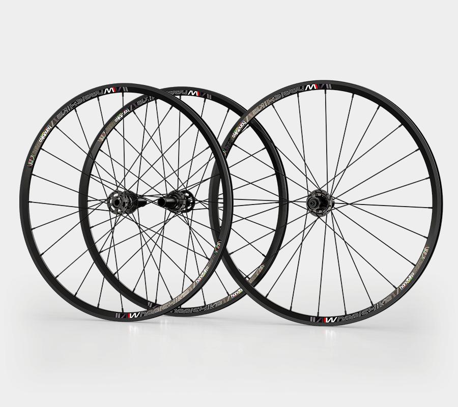 set ruote alluminio handbike wheelsbike slight nero