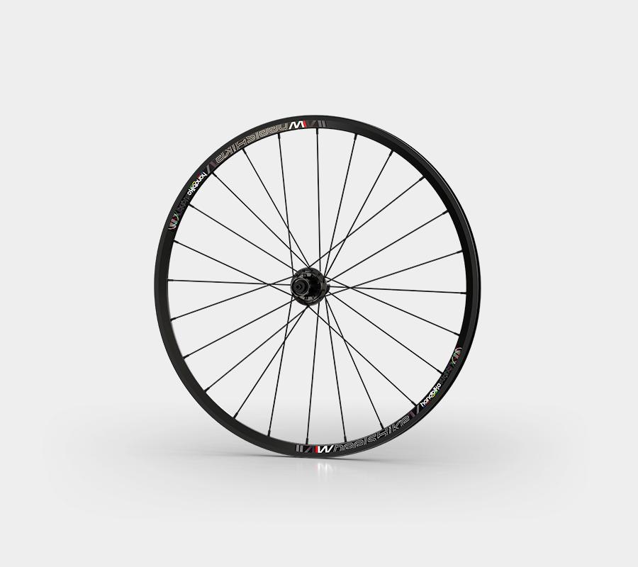 set ruote alluminio handbike wheelsbike slight nero front