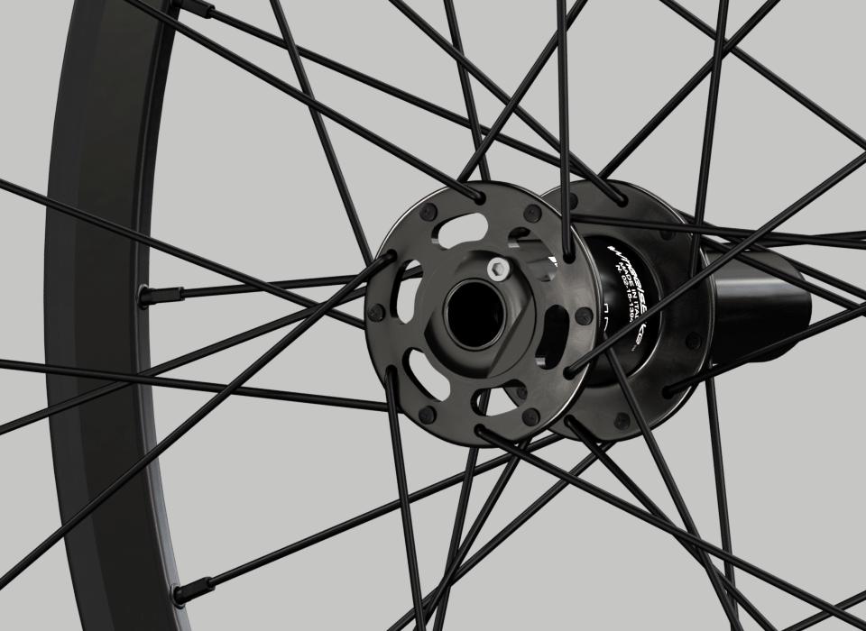 set ruote alluminio handbike wheelsbike slight nero particolare mozzo