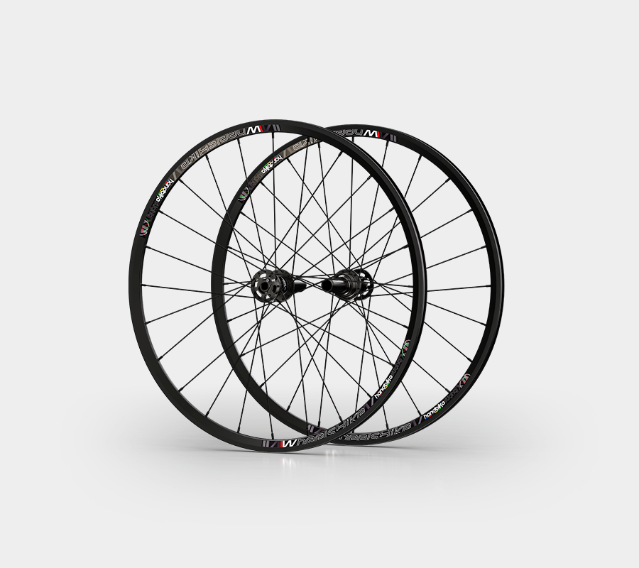 set ruote alluminio handbike wheelsbike slight nero rear