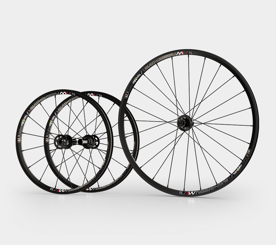 set ruote alluminio handbike wheelsbike slight nero20 e 26