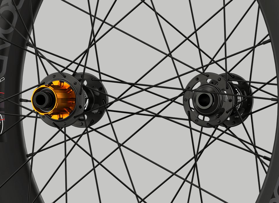 set ruote carbonio da strada disk mozzo