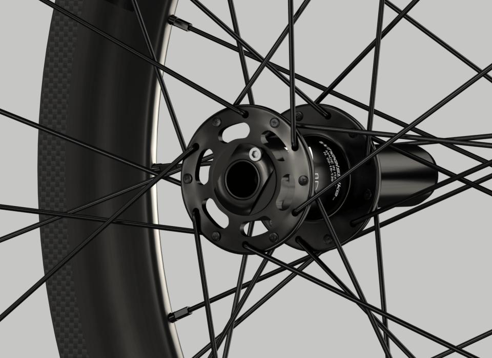 set ruote carbonio handbike wheelsbike slight mozzo
