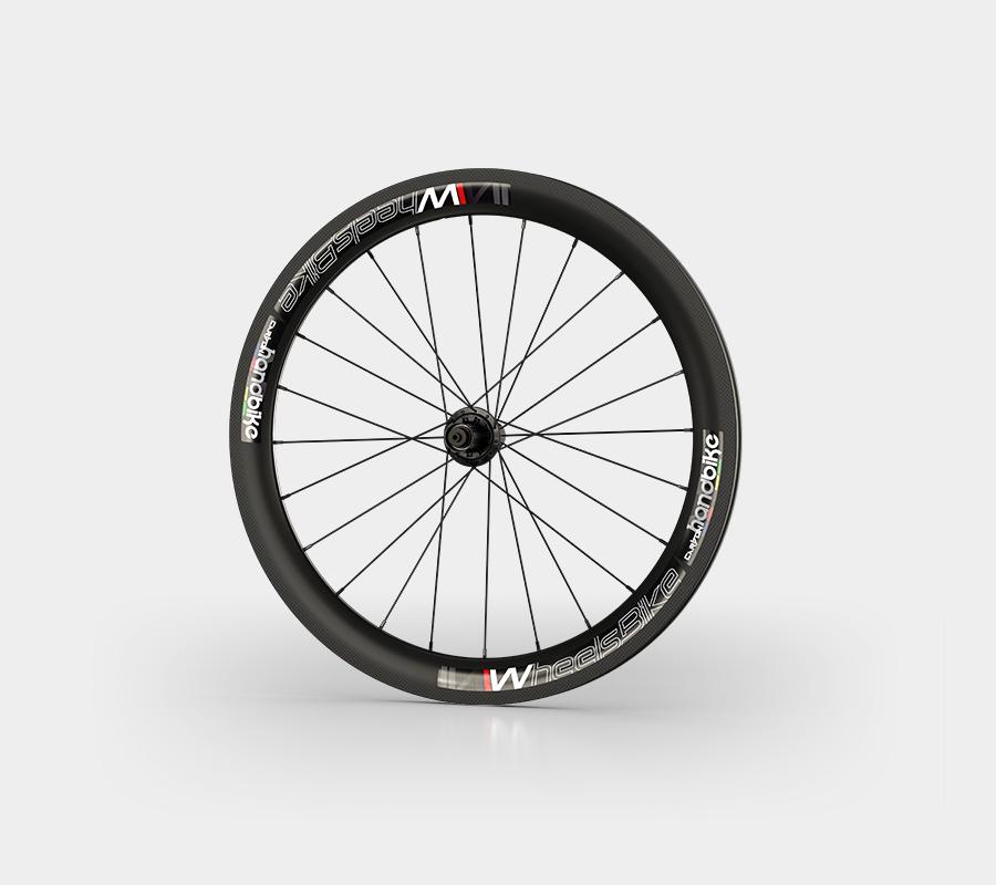 set ruote carbonio handbike wheelsbike slight nero front