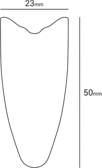 sezione cerchio handbike carbon