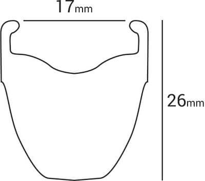 sezione cerchio handbike hi performance alluminio