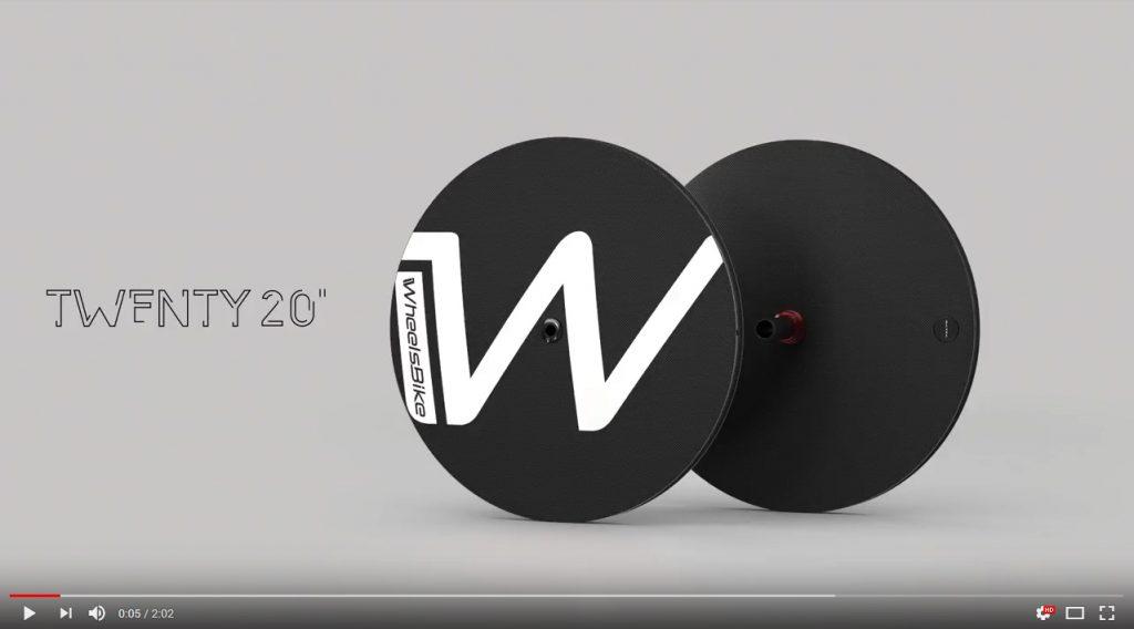 video ruote lenticolari carbonio handbike